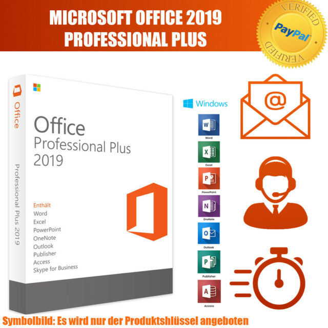 Microsoft Office 2019 Professional Plus(MS Office 2019 ProPlus) Lizenzschlüssel