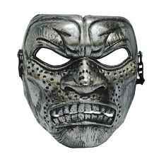 Silver Warrior Titan Mens burnished Venetian masquerade mask masked ball Spartan