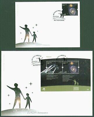 DemüTigen Madeira 2009 - Europa Cept - Astronomie - Nr. 297 + Block 44 - Fdc Ersttagsbrief StäRkung Von Sehnen Und Knochen