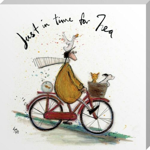 Sam Toft Canvas Print Just in Time for Tea 30 x 30 x 3.8cm