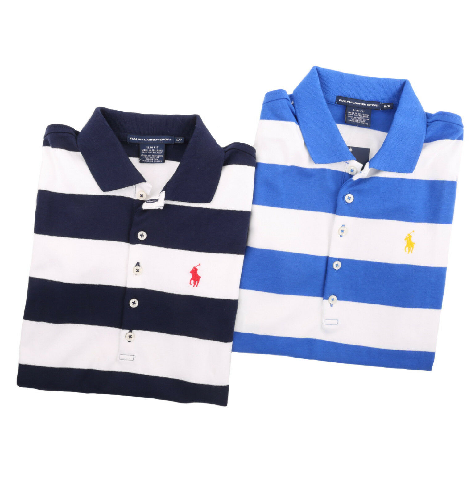 Ralph Lauren Sport damen Short Sleeve Slim Fit Stripe Polo Shirt Pony -  Ship