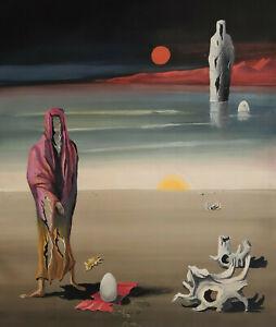 Nachlass-Hans-Boettcher-Fantasydarstellung-roter-Mond-mit-Figuren