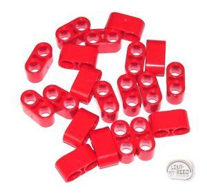 LEGO Technic New Liftarm Red 20 x 3L Thin Studless Beams w// Axle Holes