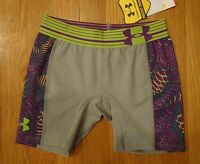 Under Armour Compression Fit Gray Shorts 5 Spankies Girls Large