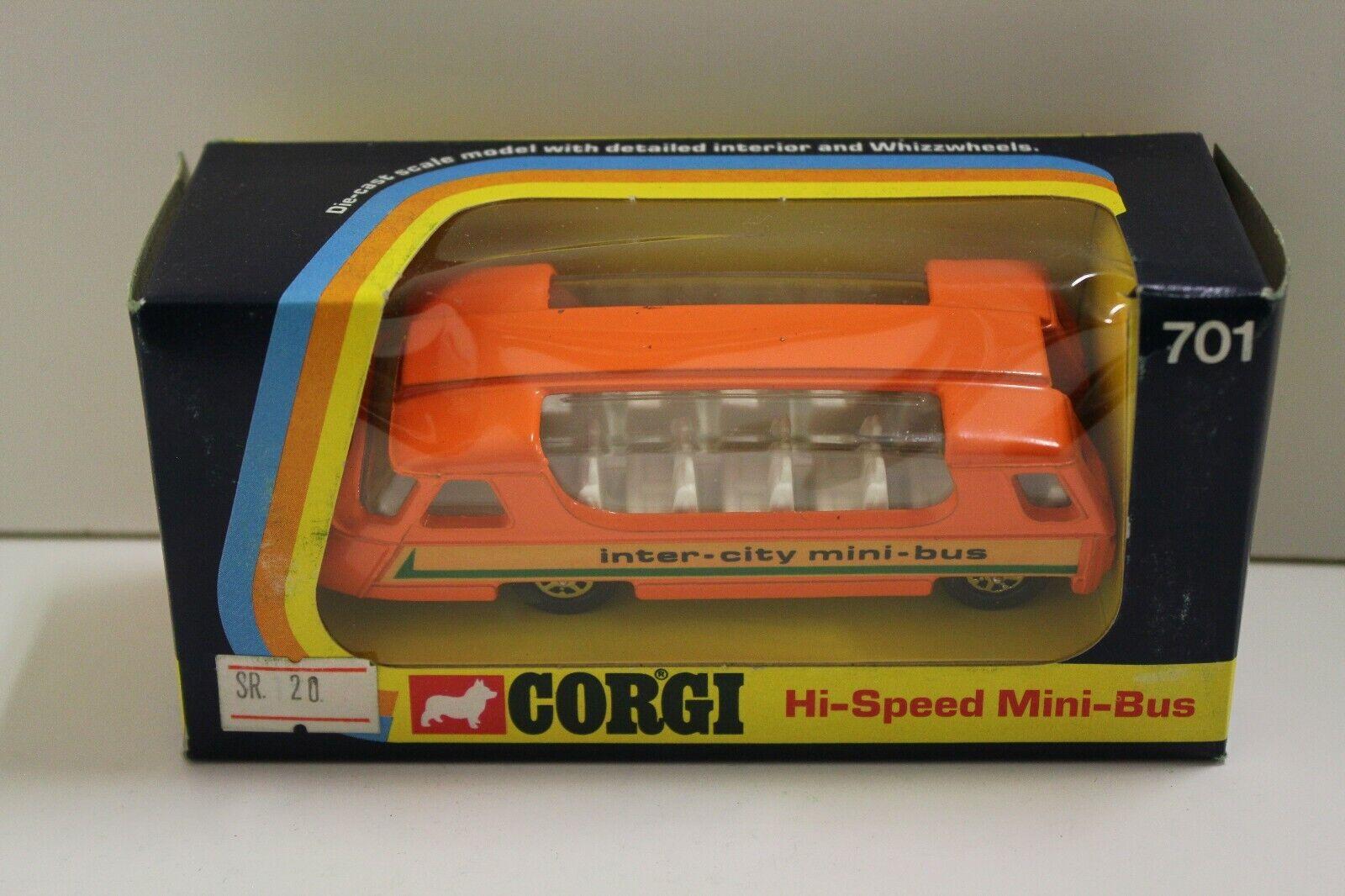 Corgi No  701  Hi-Speed Mini-Bus Mini-Bus Mini-Bus  - orange (Original 1973 BOXED) 0dfc46