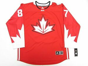 SIDNEY CROSBY TEAM CANADA RED WORLD CUP OF HOCKEY ADIDAS JERSEY SIZE ... cc32ff743