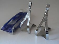 *NOS Vintage 1970s ALE Torino Italian steel pedal toe clips - Small*