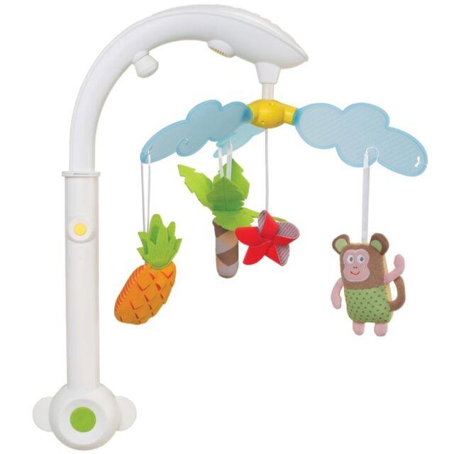 Taf Toys Musikmobile Babymobile Spieluhr Musikuhr Tropisch für Kinderbett 11885