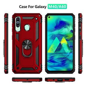 Pour Samsung Galaxy A20E A70 M10 Military Armor Case magnétique Anneau Couvercle Porte -