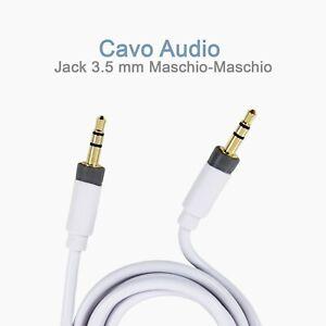 Cavo-Audio-AUX-KENNEX-AU31-WH-Jack-3-5-mm-Maschio-Maschio-1-metro