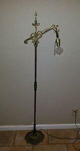 Antique Cast Iron Brass Bronze Copper Bridge Floor Lamp NO ...