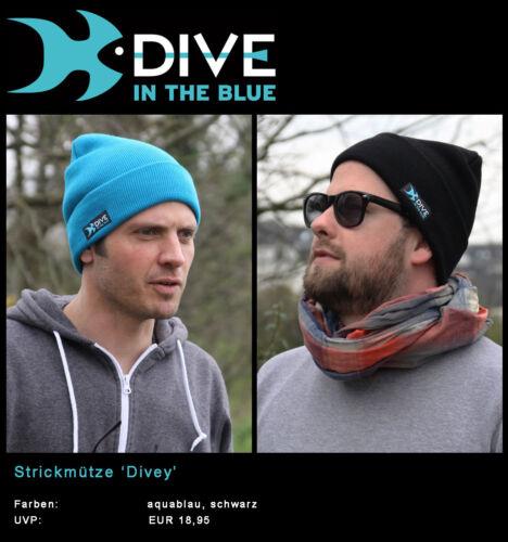 Strickmütze 'Divey' by Dive in the Blue – erhältliche Farben: schwarz, aquablau