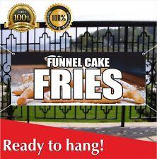 Funnel Cake Fries Banner Vinyl Mesh Banner Sign Flag Hot Warm Crisp Delicious