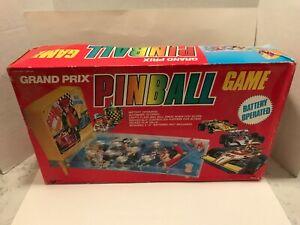 VINTAGE Vision Toys Grand Prix Racing Pinball Machine Tabletop Game #1651