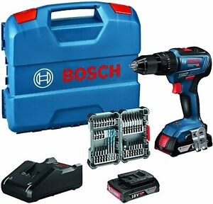Bosch Professional GSB 18V-55 Trapano a percussione 2 batterie18v 2.0 Ah + punte
