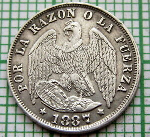 CHILE-1877-So-MEDIO-1-2-DECIMO-SILVER-SMALL