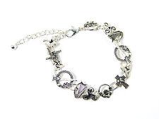 Thirteen Irish Symbols Charm Bracelet Celtic Jewelry