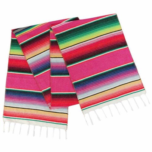 1//5x 14x108/'/' Mexican Serape Table Runner Tablecloth Wedding Fiesta Party Decor