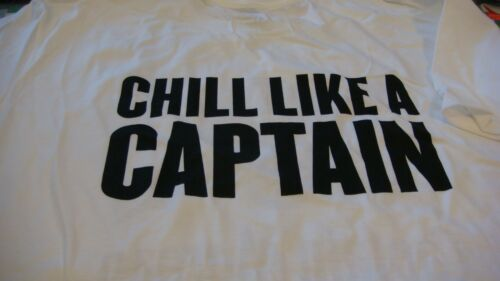 shirt new captain morgan white rum  ~ ~ SIZE L  T SHIRT Captain morgan rum T