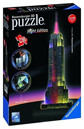 NEW  Ravensburger Puzzle 3D Puzzle Ravensburger Empire State Building Night Edition 216 piece jigsaw 47ee74