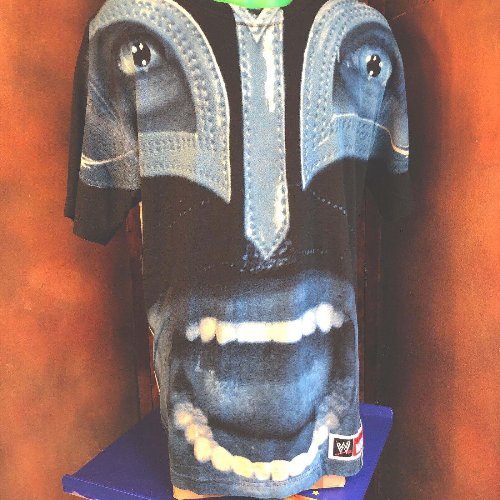 Rey Mysterio Wrestler WWF Blau Masked Face WrestlingTee Shirt Größe Large Wrestle