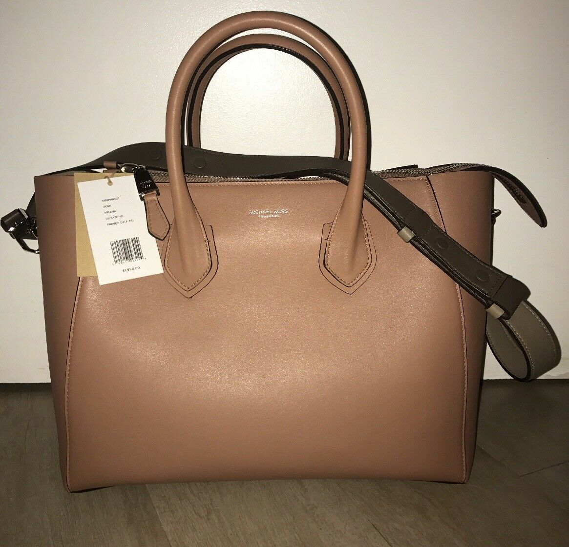 94088218f362 Michael Kors Helena Large French Calf Leather Satchel for sale ...