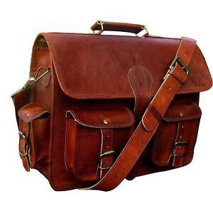 Bag Men/'s Leather Messenger Shoulder Business Briefcase Laptop Bags Handmade