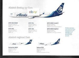 Alaska Airlines Horizon Fleet Chart B737 900er Q 400 Erj