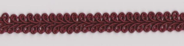 9mm Burgundy Gimp Braid