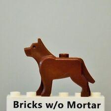 New Genuine LEGO Reddish Brown Police Dog Wolf Animal 8403