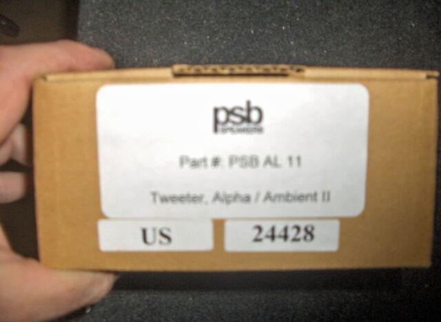 New PSB Speaker Replacement Tweeter AL 11 Alpha/Ambient II