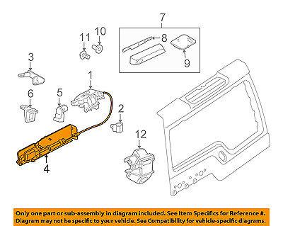 LR4 2005-2009 2010-2013 models. MSQ-CD Tailgate Lock Actuator Part#FUG500010 for La-nd Rover LR3