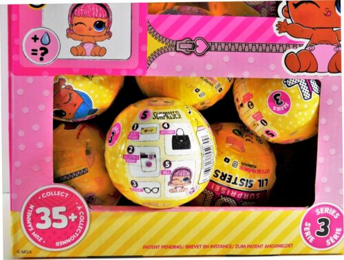 100/% Authentic! Surprise LIL SISTERS Series 3//Wave 2 DOLL Ball L.O.L