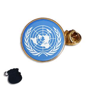 UN United Nations Flag Badge Pin Lapel Enamel