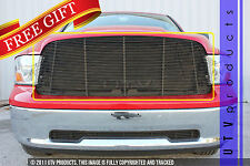 GTG 2009 - 2012 Dodge Ram 1500 1PC Gloss Black Upper Replacement Billet Grille