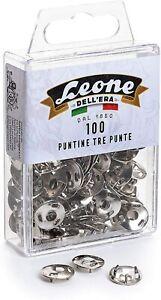 100 Puntine da disegno a tre punte Leone Dell'Era - Scatola appendibile -...