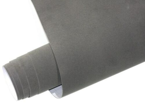 Grau Samtfolie VELVET Folie 135 cm x 100 cm Selbstklebend mit Luftkanäle