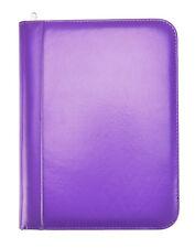 Purple Deluxe A4 Zipped Conference Folder Executive Portfolio Case Cl 715pe
