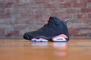 5a4aa3f002db70 Nike Air Jordan Retro 6 VI BLACK INFRARED 384664-023 768878-002 3M ...