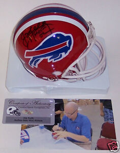 9539bec4492 Image is loading JIM-KELLY-AUTOGRAPHED-HAND-SIGNED-BUFFALO-BILLS-THROWBACK-