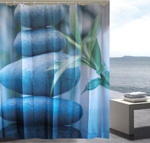 Zen pebbles balance fabric shower curtain new free shipping