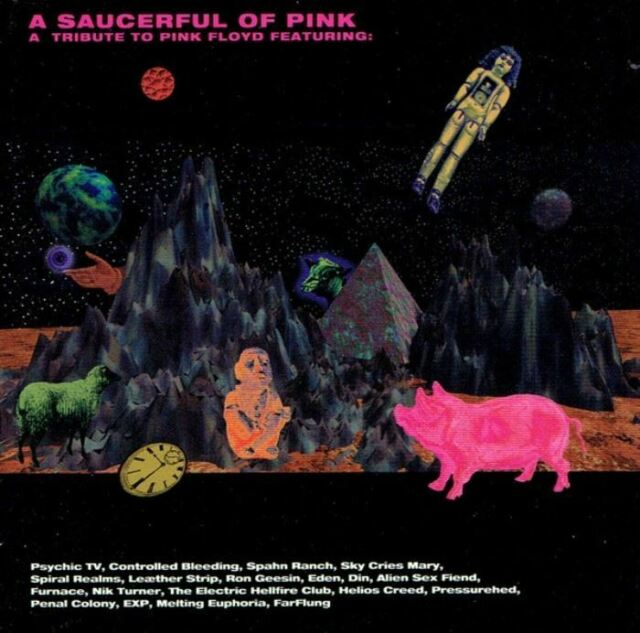 A SAUCERFUL OF PINK - A TRIBUTE TO PINK FLOYD various (2X CD, compilation, 1995)