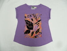 Roxy Girls Parigi Purple T- Shirt Sz 8-10