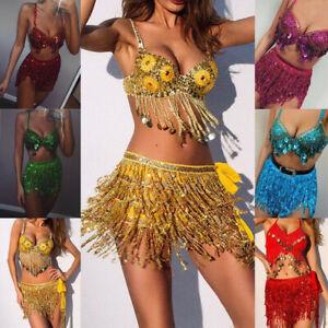Women-Mini-Wrap-Skirt-Sequin-Shiny-Dress-Club-Evening-Party-Cocktail-Tassle-Suit