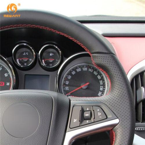 Leather Steering Wheel Cover for Buick Opel Mokka 2013-16 Insignia Meriva #OB19