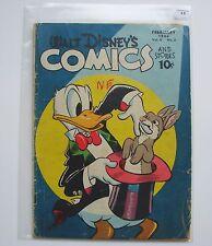 US-Walt Disney 's Comics and Stories (Dell) #65 graded 2.5