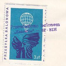 POLAND 1976.VI.05 Ballon KATOWICE Mail Cat.49 Start KATOWICE SWIERKLANY landing