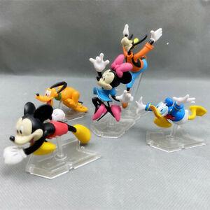 1 Set di 5 Disney Mickey Minnie Donald Goofy Pluto Rush vita FIGURES Toy Decor