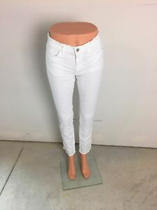 215f23a5ec67 NEW J Brand Women s Designer White Denim Skinny Jeans Size 25 J-0177 ...