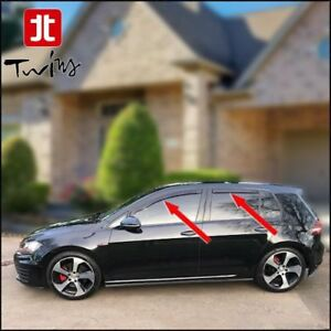 Set 4 Deflettori Aria Antiturbo Oscurati VW Golf VII 7 2013-2019
